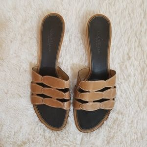 Cole Haan - Casual Tan Slides - Size 10 B